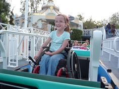 Disneyland with a kid in a wheelchair!