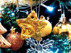 Paper clay star ornament
