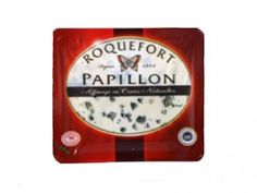 Roquefort Papillon Red - Ewe's Milk - Raw Milk - The taste is complex, creamy and soft thanks to maturing process is which even nowadays made in the same natural caves of the village for at least 4 months.