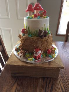 Woodland Cake, 4th Birthday Parties, Themed Cakes, Amazing Cakes, Party, Desserts, Cake, Pies, Theme Cakes