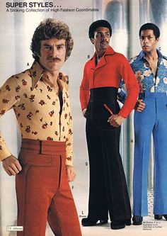 ok mister with your Tom Selleck hair and groovy stash.....you may think you're a sexy beast; but at the end of the day you're wearing a polyester shirt with roses on it, and pants with an unnaturally high waistband.