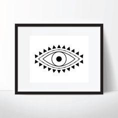 Evil Eye Print @wallthreads