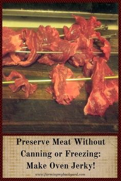 Preserve Meat without Canning Or Freezing by making Oven Jerky by Farming My Backyard: