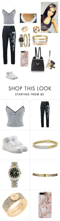 """""""Madz"""" by chicmariaa ❤ liked on Polyvore featuring Chanel, Dalood, NIKE, David Yurman, Rolex, Michael Kors and WithChic"""