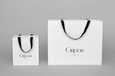 Logo, business cards and packaging by Mind for French jewellery manufacturer Gripoix by London based graphic design studio Mind. Fashion Packaging, Jewelry Packaging, Shopping Bag Design, Paper Shopping Bag, Jade Jewelry, Jewelry Shop, Paper Bag Design, Brand Identity, Packaging Design