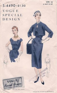Vogue S-4490, ca 1954; Sz 14/Bust 32