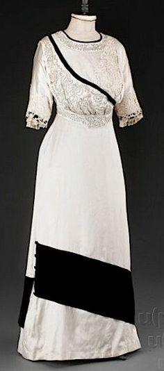 Dress, 1907-1910. Salon Jenny Winter.