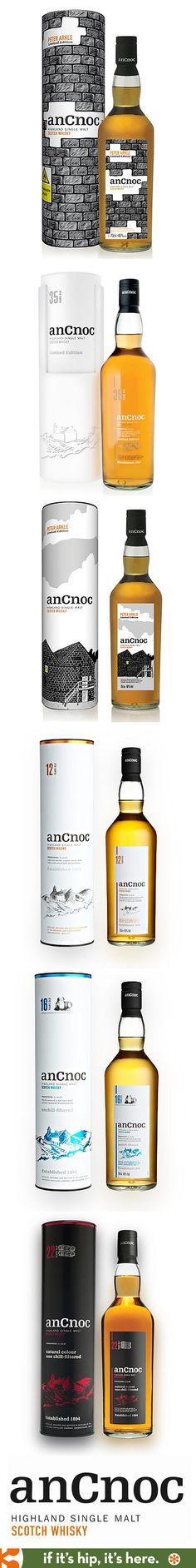 anCnoc Whisky bottles and packaging.