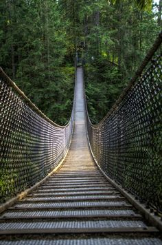 This suspension bridge is located at the Ecology Centre Lynn Canyon Park in the north Vancouver area.