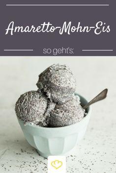 Unsere neue Lieblingseissorte: Amaretto-Mohn-Eis.