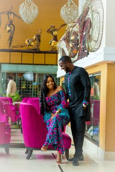 Odion and Oriwo& Pre-Wedding Shoot + Love Story! from Diyanu Latest African Fashion Dresses, African Dresses For Women, African Men Fashion, Ankara Fashion, Traditional Wedding Attire, African Traditional Wedding, Couple Style, Couple Goals, African Wedding Attire