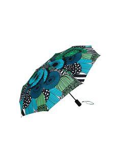 Siirtolapuutarha-sateenvarjo (valkoinen, vihreä, musta) |Asusteet, Sateenvarjot ja heijastimet, Laukut & asusteet | Marimekko