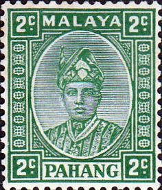 Pahang 1935 Sultan Sir Abu Bakar SG 30 Fine Mint SG 30 Scott 30 Condition Fine LMM Only one post charge applied on multipule purchases Details N B