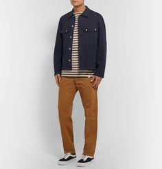 Norse Projects Josef Organic Cotton-twill Trousers In Brown Norse Projects, Vans Sneakers, Herringbone, Organic Cotton, Trousers, Mens Fashion, T Shirt, Clothes, Collection