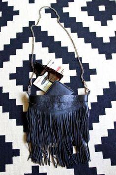 Fringed Leather Bag #flatlay #style