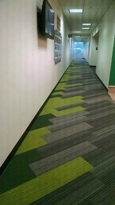 Interface Corridor - Shiver Me Timbers Hickory with On Line Lime and Forrest