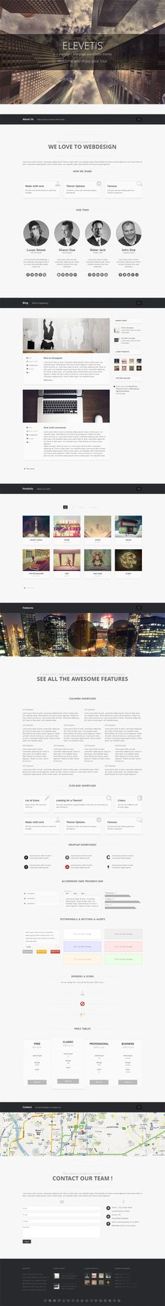 Elevetis, WordPress Premium One Page Responsive Theme