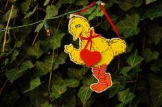 Vintage 90s Wooden Big Bird Sesame Street by SycamoreVintage