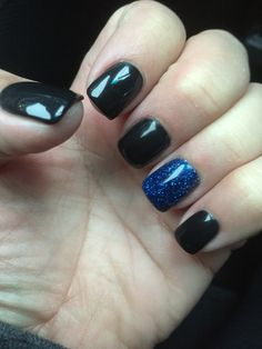 Black with blue glitter