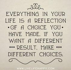 Als je andere resultaten wil, moet je andere keuzes maken...
