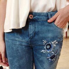 Resultado de imagen para bordados de jeans