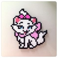 Marie Aristocats perler beads by woodydev