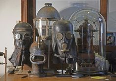 Gas mask collection.
