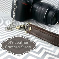 Top 5 of the Week: DIY Leather Camera Strap by cleverlyinspired.com