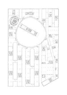 Headquarters BBVA by Herzog & de Meuron, in Open House Module Architecture, Paper Architecture, Architecture Graphics, Architecture Drawings, Interior Design Layout, Layout Design, Urban Design Diagram, Architectural Floor Plans, Plan Drawing