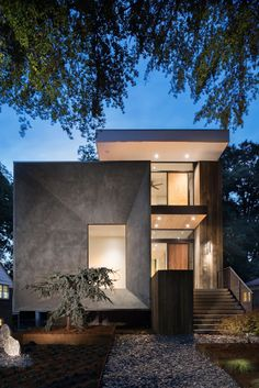 Tesseract House by West Architecture Studio – House Design Concrete Siding, Stucco Siding, Stone Siding, Wood Siding, Concrete Houses, Minimalist Architecture, Contemporary Architecture, Contemporary Design, Modern Exterior
