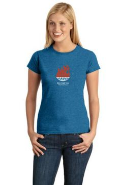 This women's style tee features a vibrant flame design complimented by the awesome new sapphire color tee. You'll love this light weight women's tee even during the hottest summer months. #womens #tshirt #sapphire #waterfire