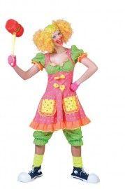 Clown Fluorina | Circus kleding | GOEDKOPE THEMAKLEDING - VERKLEEDKLEDING - CARNAVALSKLEDING - KOSTUUMS
