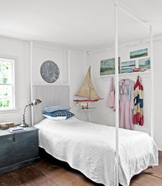 A nautical bedroom for a child.