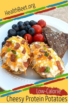 Leftover Baked Potatoes, Cheese Potatoes, Twice Baked Potatoes, Cheese Turkey, Turkey Bacon, High Protein Recipes, Low Calorie Recipes, Hardy Meals