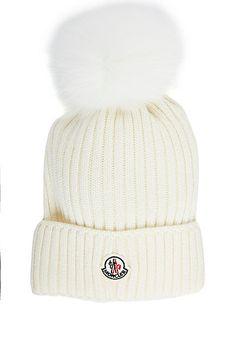 Moncler Fur Pom-Pom Hat (Kids) Fur Pom Pom Hat 9182986195c