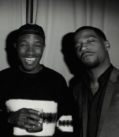 Frank Ocean and Kid Cudi. Chillin'.