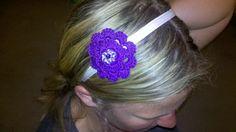 Cool handmade crochet headbands for flower girls