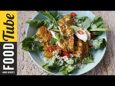 Super Food Chicken Curry | Jamie Oliver - YouTube  ... Yogurt based marinade and he bakes the chicken and cauliflower in the oven!