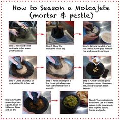 Did you know a mortar and pestle needs to be seasoned before using? Find out how to prep yours on Delish Dish: http://www.bhg.com/blogs/delish-dish/2013/05/16/my-molcajete/?socsrc=bhgpin051713mortarpestle