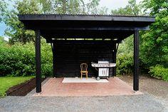 TEHDÄÄN KESÄKEITTIÖ KIERRÄTYSMATERIAALEISTA! OSA 2 Outdoor Rooms, Outdoor Living, Outdoor Decor, Dream Garden, Home And Garden, Terrace, Pergola, Cottage, House Design