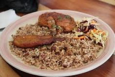 National Dish of Belize: Rice and Beans with Stewed Chicken