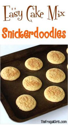 Try these quick and easy cake cookie recipes for any occasion Snickerdoodle Cookies Recipe! Soft, Easy and SO delicious! These Cake Mix Snickerdoodles can be made in a snap and are the ultimate crowd pleaser! Cake Mix Cookie Recipes, Yummy Cookies, Cake Cookies, Cake Mixes, Cupcakes, Cake Recipes, Yellow Cake Mix Cookies, Sandwich Cookies, Shortbread Cookies