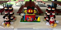 Mickey Mouse Clubhouse Cake and cupcakes — Birthday Cakes