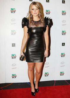 Holly Valance - Leather Dress (the premiere of Big Mamma's Boy) | Leather Latex Love