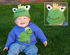 Craft Passions: Frog Sweater/ hat..# free #knitting pattern link here