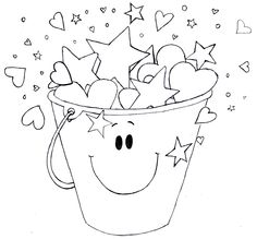 1000 images about kindergarten emotional support on for Bucket filler coloring page