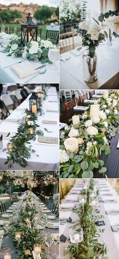 2017 trending greenery wedding centerpiece ideas