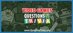 Video Games Trivia Questions and Quizzes - QuestionsTrivia Video Game Trivia, 80s Video Games, Classic Video Games, Trivia Games, Fun Games, The Lost Vikings, Trivia Questions For Kids, Quizzes For Kids, Star Wars Timeline