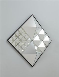 "VERNER PANTON  ""Diamond Pyramid"" mirror"