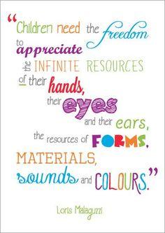 Inspirational Quotation: Loris Malaguzzi | Free EYFS / KS1 Resources for Teachers
